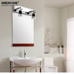Wholesale Chrome Bathroom Light Fixtures - Mordern LED Bathroom wall lighting fixture LED Mirror lamp Chrome Metal wall sconces for Restroom Bedroom 11.8inch LED wall lamp