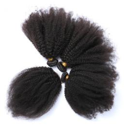 Canada Vierge Brésilienne Afro Crépus Bouclés Armure De Cheveux Avec 4 * 4 Dentelle Fermeture 3 Partition 4Pcs Afro Bouclés Vierges Cheveux Avec Dentelle Fermeture 5Pcs / Lot Offre