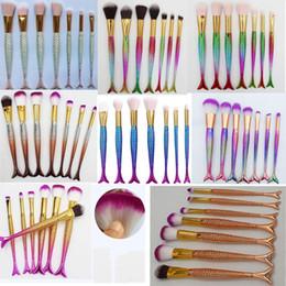 Wholesale Mermaid Wholesale Products - Most popular 3D Mermaid Makeup Brushes product Foundation Blusher eyeshadow Brushes Mix together