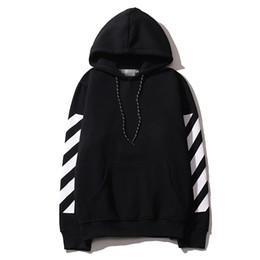 Wholesale lapel sweater - basic models oblique striped sweater with letters cotton Hoodie Leisure hip-hop big code set head Street fashion Hoodie