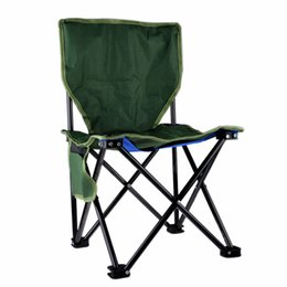Wholesale Portable Beach Chairs - Wholesale-Portable Stable Foldable Canvas Chair Seat Lightweight Seat for Hiking Fishing Picnic Barbecue Beach Chair Other Fishing Tools