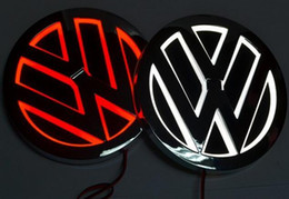 Wholesale led logo lamp - 5D led car logo lamp 110mm for VW GOLF MAGOTAN Scirocco Tiguan CC BORA car badge LED symbols lamp Auto rear emblem light