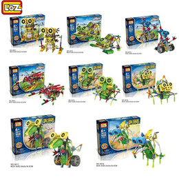 Wholesale Education Toys For Kids - LOZ Robot Electric Building Blocks Assembly DIY Educational Dinosaur Model Toys For Children Kids Gifts 3011-3018 Education toys