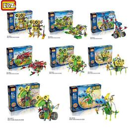 Wholesale Build Dinosaur - LOZ Robot Electric Building Blocks Assembly DIY Educational Dinosaur Model Toys For Children Kids Gifts 3011-3018 Education toys