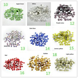 Wholesale Diamond Stickers 3mm - Fashion new 3mm A ITC drilling, glass drilling phone Sticker drill Austrian imitation diamond drill glass drill flat Loose Diamonds A0232