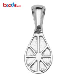 2019 jóias rondelle Glue-on Bail Jewelry Pendant Descobertas Sterling Silver Rondelle-shaped, 16x7mm, orifício: 4x3mm, vendido por PC, ID 29359 desconto jóias rondelle