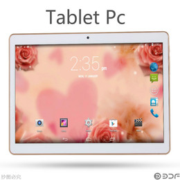 Wholesale New Tablet Sim Call 3g - HOT NEW 9.6 INCH Tablet Android 4.4 1GB+16GB 64-Bit Processors Dual SIM Card 2G 3G 4G With Flash 5 Million Pixels.