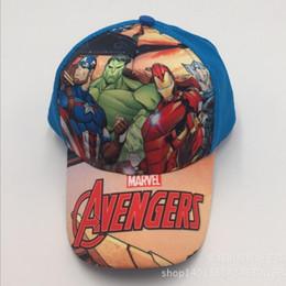 Wholesale Hat War - Avengers Infinity War Cosplay Cap Novelty Super hero Hats kid Children Hat Captain America Baseball cap Summer Autumn Sport Hat wholesale
