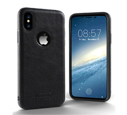 Wholesale Cheap Leather Cases Phones - Cheap For iPhone 8 7   6s Samsung S8 S7 S6 New Business Leather Pattern Stitching Phone Case TPU Soft Shell full protection Anti-drop Case