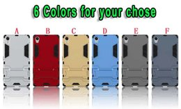 Wholesale Silicone Iron Cover - Shockproof Stand Hybrid Hard PC TPU Case For Sony Xperia Z5 Plus HTC One X9 Huawei P8 Lite 2017 P9 Honor 8 5A Iron man Ballistic Armor Cover