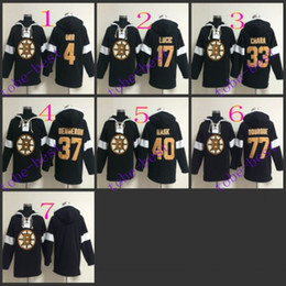 Wholesale White Lace Uniform - boston bruins #17 milan lucic lace up pul#2016 Hooded Sweatshirt Hockey Jackets New Style All Teams Outdoor Uniform size 48-56 free shipping