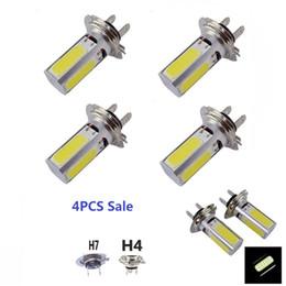 2019 lampadina a commutazione colore A buon mercato H7 / H4 COB LED Car Foglight in alluminio ad alta potenza 24W faro spotlight per auto luce diodi emettitori luce di guida JTCL011