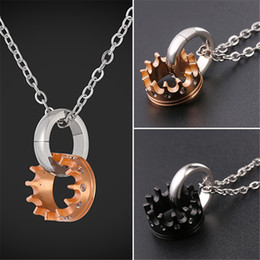 Wholesale Unique Gifts Love - U7 Crown Pendant Charms Rose Gold Plated Cubic Zirconic Necklace Unique Design Pendant Jewelry For Women Perfect Gift for Love GP2534