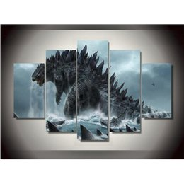 Wholesale Wall Posters Free Shipping - Canvas Printings Godzilla Movie Painting Wall Art Home Decoration Poster Canvas Unframed Free shipping