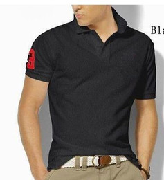 Wholesale Mens Shirts Big Sizes - 2017 New Big Size S-6XL Polo Shirt Men Big Horse Camisa Solid Short Sleeve Summer Casual Camisas Polo Mens Free Shipping