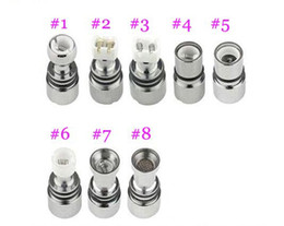 Wholesale Double Coil Clearomizer - Dual Coil For Wax Glass Globe Atomizer Clearomizer Double Ceramic Rod Coil Titanium Wick Glass Globe Replacement Coil Head..