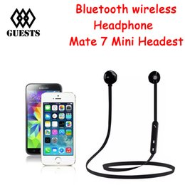 Wholesale Original Any - Original Fineblue MATE 7 mini Wireless Bluetooth Headset with mic Magnets suck Stereo Sports Earphones for Any Smartphone ane smart watches