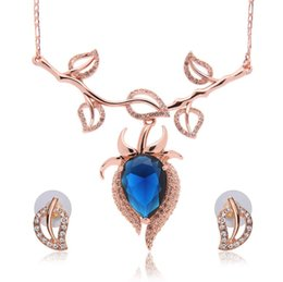 Wholesale Wholesale Jewelry Newest Trends - Newest Trend Necklace Earrings Bride Jewelry Set For Women Wedding Jewelry Sets Fashion Leaf Shape Alloy Jewelry Sets 61152224
