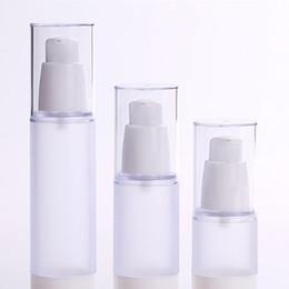 airless-serum kosmetik-flaschen Rabatt 15ml 30ml 50ml mattierte Körperflaschen klare Airless-Vakuumpumpe leer für Nachfüllbehälter Lotion Serum kosmetische Flüssigkeit F20172226