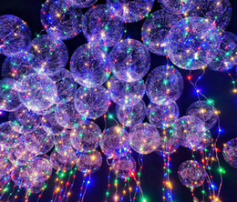 Wholesale Birthday 18 Party - New Arrival LED Light Up Balloons Flashing Latex Party Balloon 18 Inch Glow Balloons For Party Birthday Wedding and Christmas Decorations