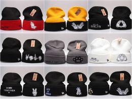 Wholesale Head Ski Women - 6 Styles Hot Beanie Hats fashion cap winter knitted hat skiing wool cap Headgear Headdress Head Warmer Skiing warm Winter hat