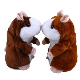 Wholesale Hamster Stuff Toy - Talking Hamster Talk Sound Record Repeat Stuffed Plush Animal Kids Child Toy