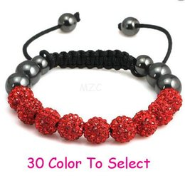 Wholesale Shamballa Ball Bracelets - fashion Min.$15 Mixed Order+Free Shipping+Gift.10mm Whitecvdf Disco Ball Beads Crystal Shamballa Bracelet Fasion Jewelry For Women Men. hot