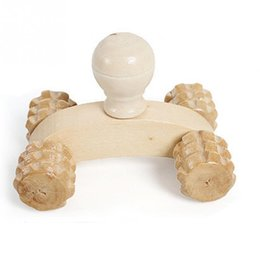Wholesale Hand Massage Therapy - Wood Full-body Four Wheels Wooden Car Roller Relaxing Hand Massage Tool Reflexology Face Hand Foot Back Body Therapy Massagers