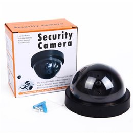 Wholesale Outdoor Wireless Ir Security Cameras - Wireless Home Security Fake Camera Simulated video Surveillance indoor outdoor Surveillance Dummy Ir Led Fake Dome camera with retail packin