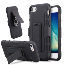 Wholesale Iphone 5s Belt Holster - For iphone 7 7plus Future Armor Impact Hybrid Hard Case Cover + Belt Clip Holster Kickstand Combo For iphone 6 6s plus 5 5s