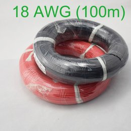 Wholesale Flexible Copper Wire - Wholesale-100m 18 AWG Gauge Silicone Wire Flexible Stranded Copper Cables for RC Wiring