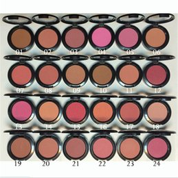 Wholesale wholesale grooms wear - mc Hot Powder Shimmer Blush Powder Shimmer Pink Swoon Peaches rouge 24 Color Pearl grooming blusher Factory Price Party Makeup 6g