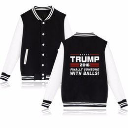Wholesale Baseball Jacket Women Letter S - Donald Trump Baseball Jacket Women Black and USA Presidential Make America Great Again Baseball Clothes Women Coat Jackets 2016 New