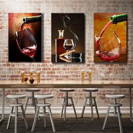 2019 pinturas a óleo copos de vinho Espritte Art-Large Óculos de vinho tinto Imagem Pintura em tela sem molduras, Decoração para casa moderna Pintura de parede de lona Óleo de pinturas pinturas a óleo copos de vinho barato