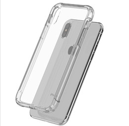 Wholesale Good Screen Protectors - Good quality Shockproof Air cushion high transparent waterproof TPU protective cover Screen Protectors case For iphone x