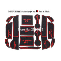 Wholesale Mitsubishi Outlander Mats - Non Slip For Mitsubishi Outlander 13-15 Accessories With Words In Car Stickers Door Groove Cup Gate Slot Mat Pad Car-Styling