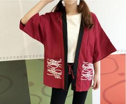 Wholesale Lucky Kimonos - Wholesale-Free shipping Lucky Cat Japanese kimono wind cardigan air conditioning