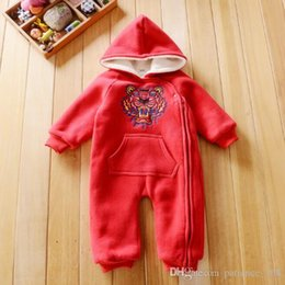 Wholesale Pure Bear - INS 6 colors new styles Hot sell girl autumn winter pure color bear head climbing suit High quality cotton romper free shipping