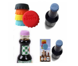 Wholesale New Beer Caps - New idea Soft Silicone Bottle Cap Wine Beer Saver Multicolour For Kitchen & Bar Food-Grade 600pcs lot