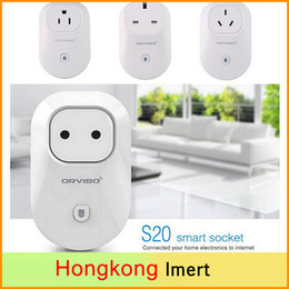 Wholesale Switch For Socket - Orvibo S20 EU,US,UK,AU Power Socket WiFi Smart Switch Travel Plug Socket Home Automation app for Android iPhone