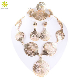 Wholesale Girls Vintage For Bridal - Hot sale African Beads Gold Silver Vintage Bridal Jewelry Sets For Women And Girls Wedding Jewelry Sets