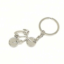 Wholesale Wholesale Touring Bikes - DHL Free Shipping Creative Design Mini Bicycle Shape Keyring Tour Of France Souvenir Gift Cheap Bike Shaped Keychain For Wholesale