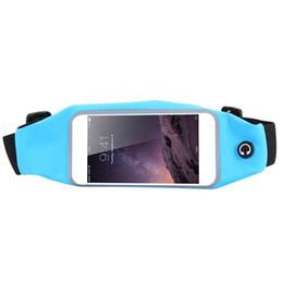 Wholesale Touchscreen Case - Wholesale- 2017 NEW 5.5 inch Sports Running Bag Waterproof Waist Pocket Belt Case Cycling Portable Touchscreen Phone Bags Rainproof Outdoor