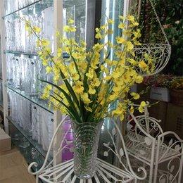 Wholesale Decor For Displays - Silk Artificial Orchids Flowers For Decoration Display plastic Ribbon Pompom Flores Scrapbooking Wedding Decor Flowers QQC303