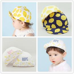 d2bfd13df6f5f 2019 niños sombreros amarillos Venta caliente Summer Baby Peaked Cap Kid  Hat Niños Niñas Lemon Travel