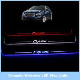 Wholesale Chevrolet Led Door Lights - For Chevy Chevrolet Cruze   12V Dynamic LED Streamer Footboard Lights, Door Lamp, Welcome Lights, Threshold of Article, Dynamic Light.