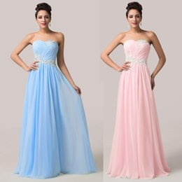 Wholesale Evening Dresses Grace Karin - 2016 Grace Karin In Sexy Prom Dresses Strapless Sequins Floor Length A-Line Chiffon Evening Formal Gowns HY1083
