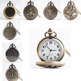 Wholesale Wholesale Napoleon - Naruto Pocket watches One Piece watches Pirates of the Caribbean clamshell quartz watches Napoleon watch Magic Baby 230191