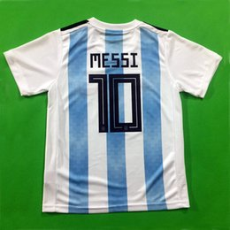 Wholesale Shirt Football Argentina - Thailand Camisetas Argentina soccer jerseys 2018 world cup MESSI AGUERO DYBALA HIGUAIN ICARDI DI MARIA football shirt football kits shirt