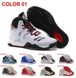 Wholesale Basketball D Rose - 2016 D Rose 7 Boost Basketball Shoes Men Boosts Hot Sale Derrick Rose shoes 6 7 VII Florist City White Boost Sports Sneakers Size 40-46